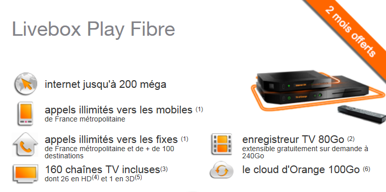 Livebox play fibre orange